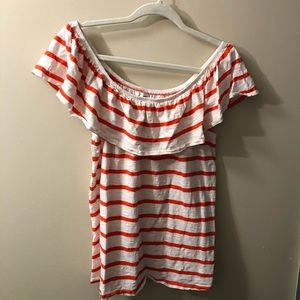 Striped Off the Shoulder Old Navy Blouse